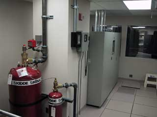 Enterprise Data Center fire extinguisher system